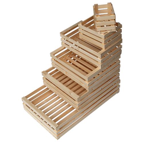 anche per  decoupage disponibile in 3 misure Cestino porta cucito in legno